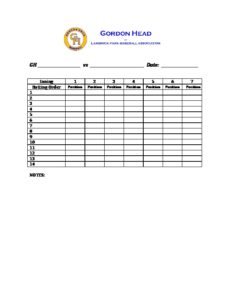 GHLPBA Lineup Sheet