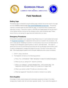 GHLPBA Field Handbook